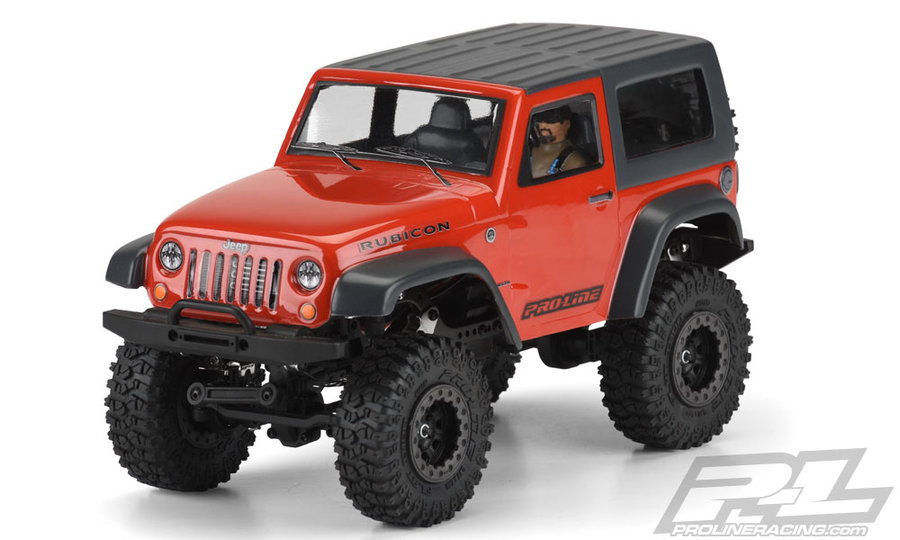 Pro-Line Jeep Wrangler Rubicon Clear Body w. Interior 1:24
