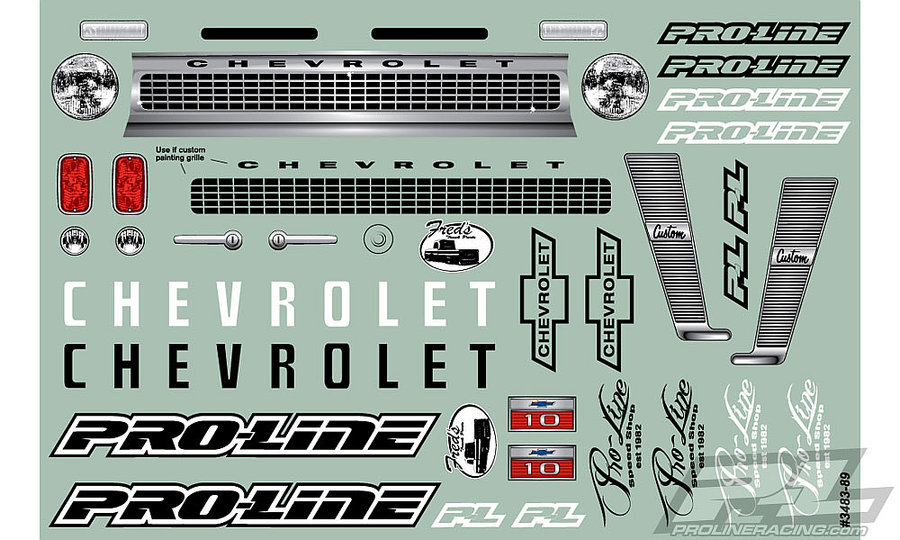 Pro-Line 1966 Chevrolet C-10 Body decal set