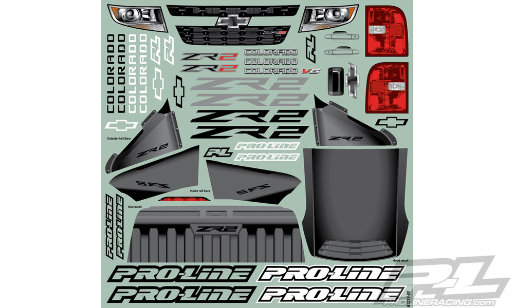 Pro-Line Chevy Colorado ZR2 Clear Body (3517-00)
