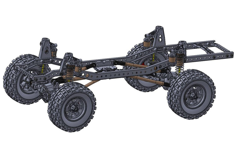 3Racing 1,9 Scale Machine - The Crawler EX