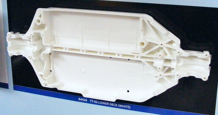 Tamiya TT-02 Lower Deck White (84426)