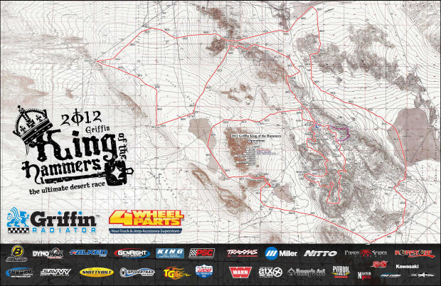 King of the Hammers mapa