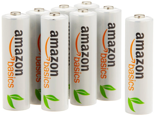 AmazonBasics NiMH AA Rechargeable Batteries