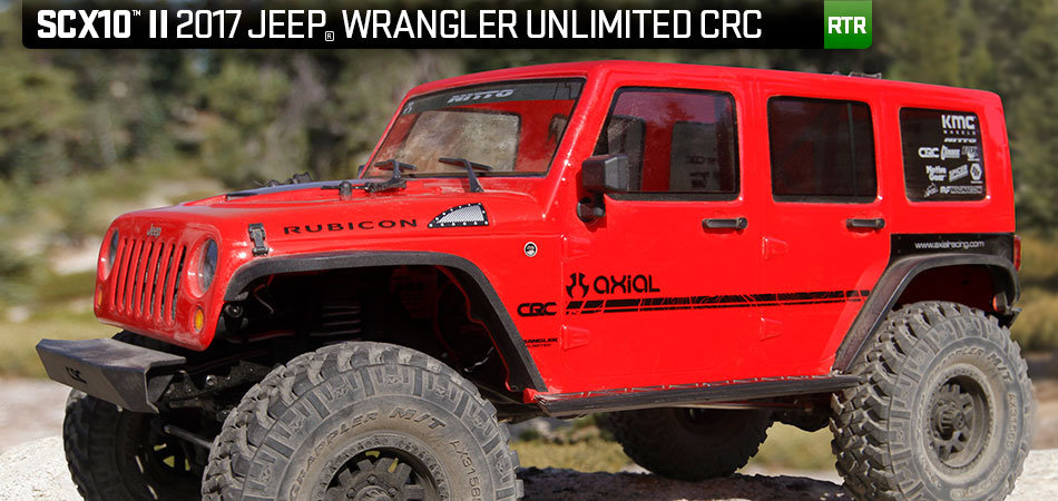 Axial SCX10 II 2017 Jeep Wrangler Unlimited CRC 1/10 4WD RTR