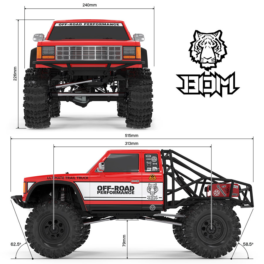 GMADE GS02 BOM TC 4WD Kit (GM57000)