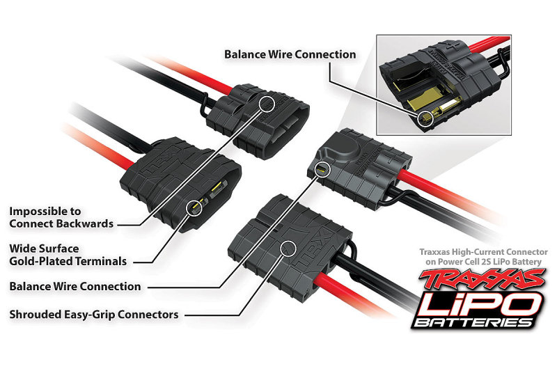 Traxxas High-Current 2nd Generation Connector - 2S LiPo