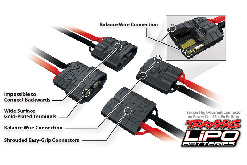 Traxxas High-Current 2nd Generation Connector - 3S LiPo