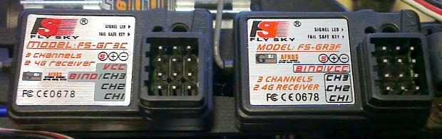 Flysky FS-GR3C a FS-GR3F